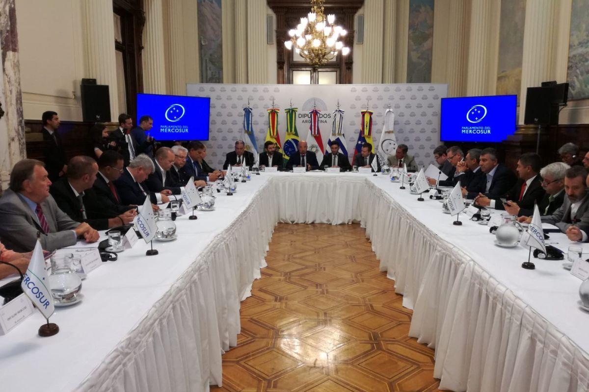 reunión mesa directiva parlasur salon delia parodi