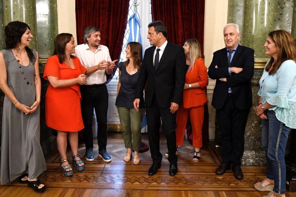 Sergio Massa, Máximo Kirchner, Sabina Frederic,