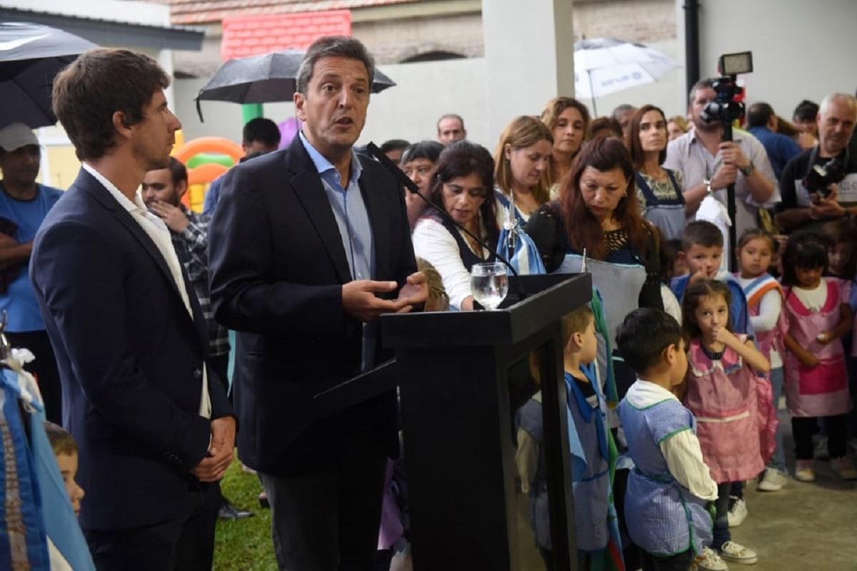sergio massa inauguracion jardin de infantes