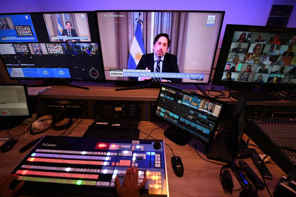nicolas trotta comision educacion senado videoconferencia