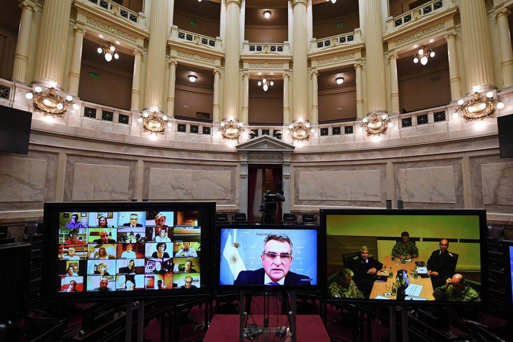 comision defensa senado videoconferencia agustin rossi
