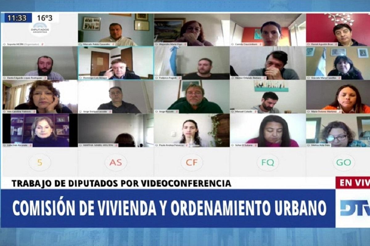 comision de vivienda diputados reunion virtual