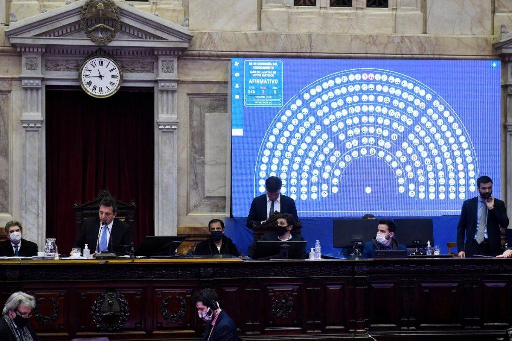 votacion ley economia del conocimiento sesion virtual diputados