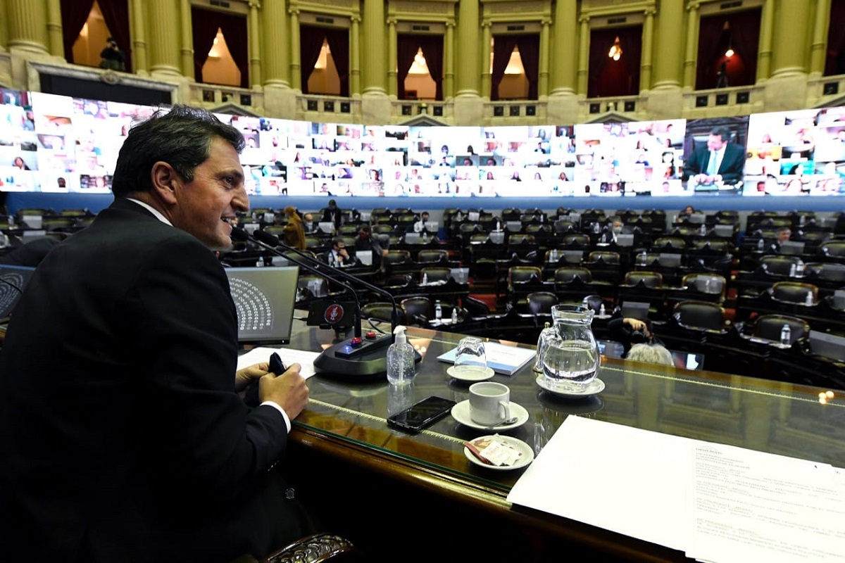 massa preside sesion virtual diputados 25 de junio 2020