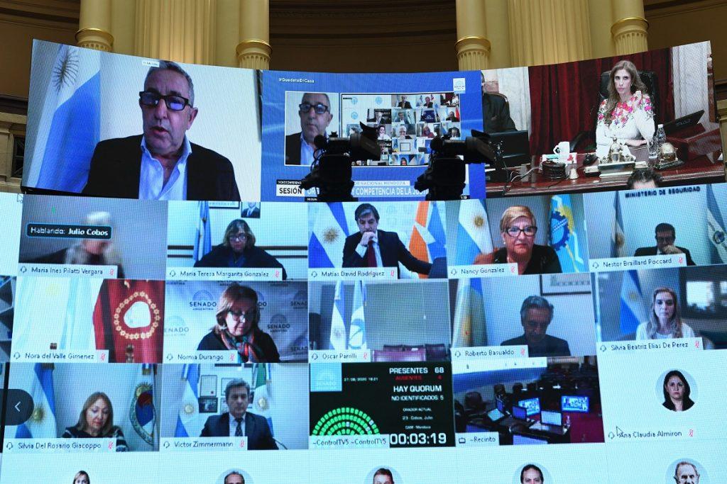 sesion reforma judicial julio cobos hablando
