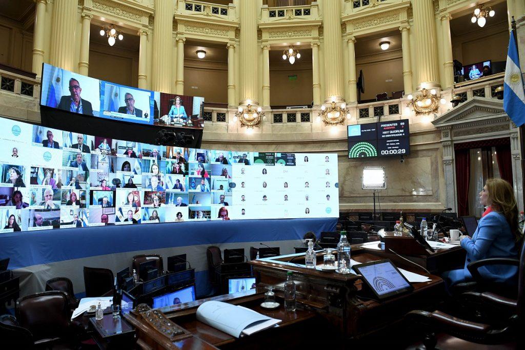 sesion virtual senado 3 septiembre 2020 preside abdala de zamora