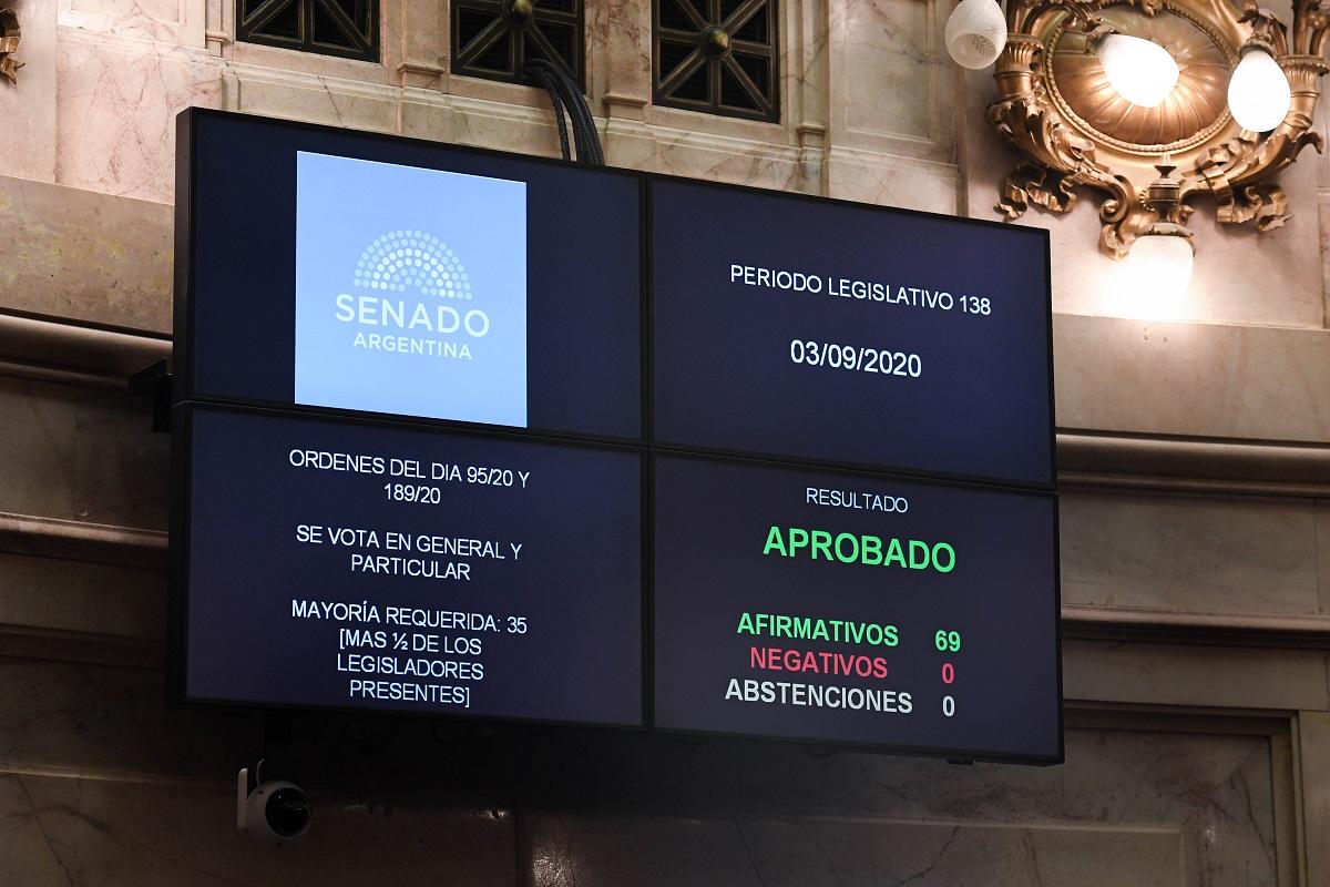 tablero votacion grooming sesion senado