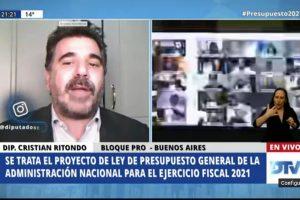 """Ritondo enmarcó la abstención de JxC en un plano """"colaborativo"""""""