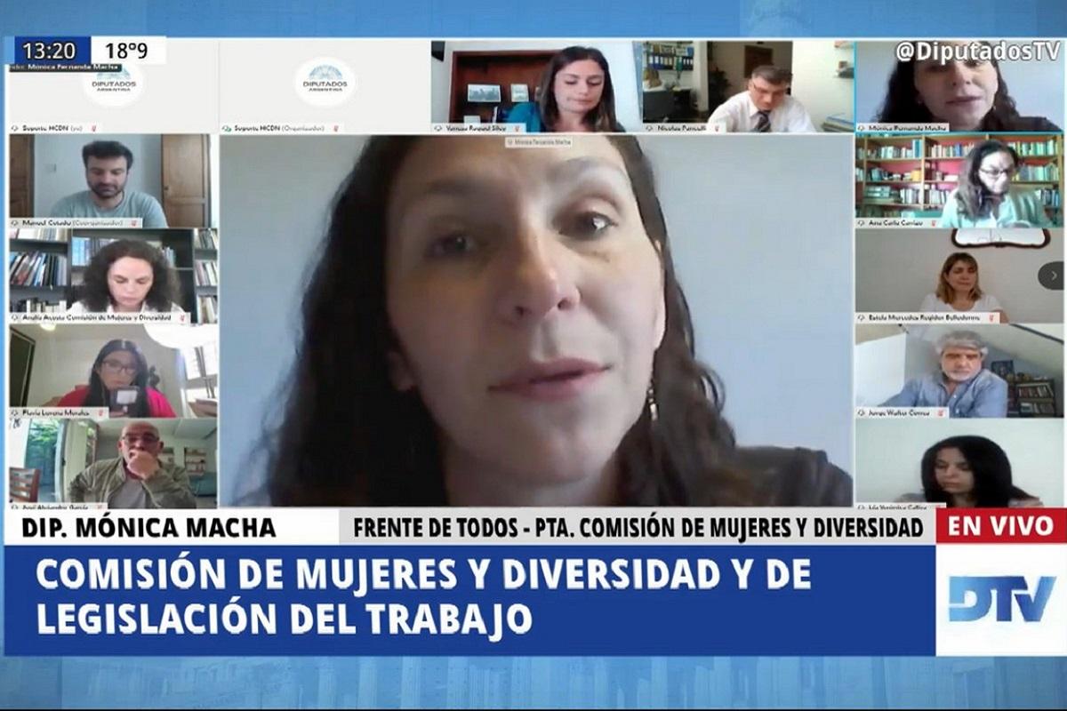 monica macha comision mujeres y diversidad cupo trans