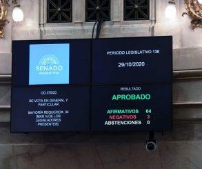 Recibió media sanción del Senado el proyecto de ley de etiquetado frontal de alimentos