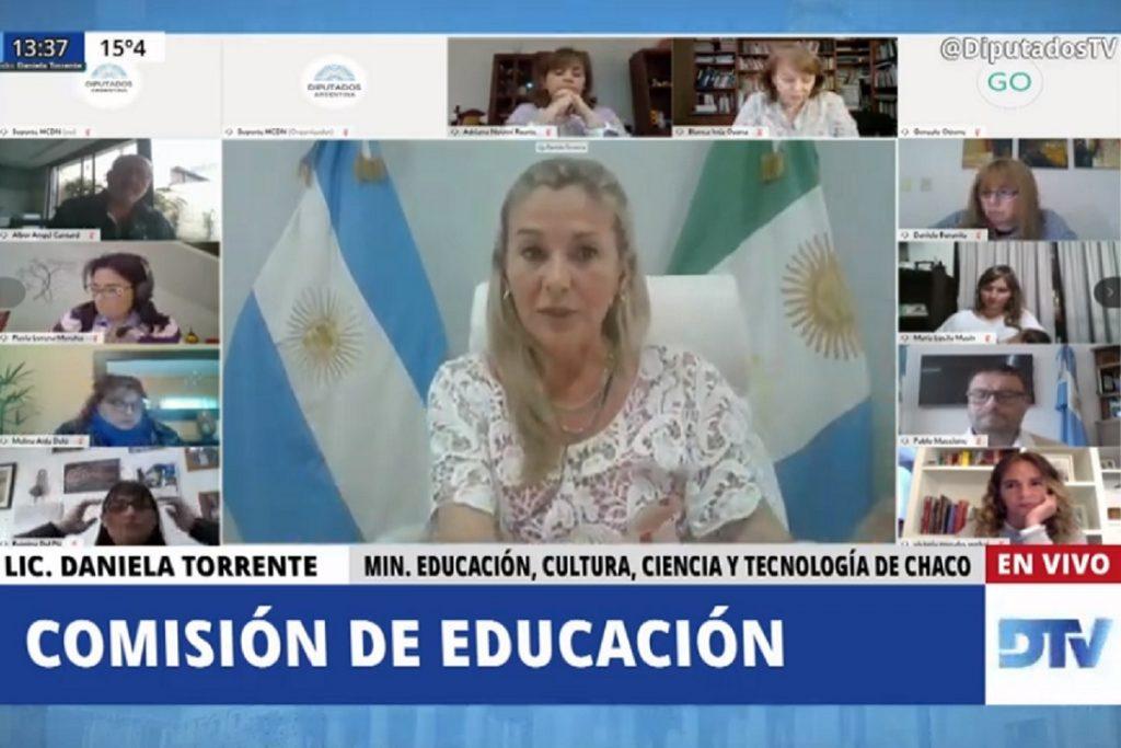 daniela torrente ministra educacion chaco comision diputados
