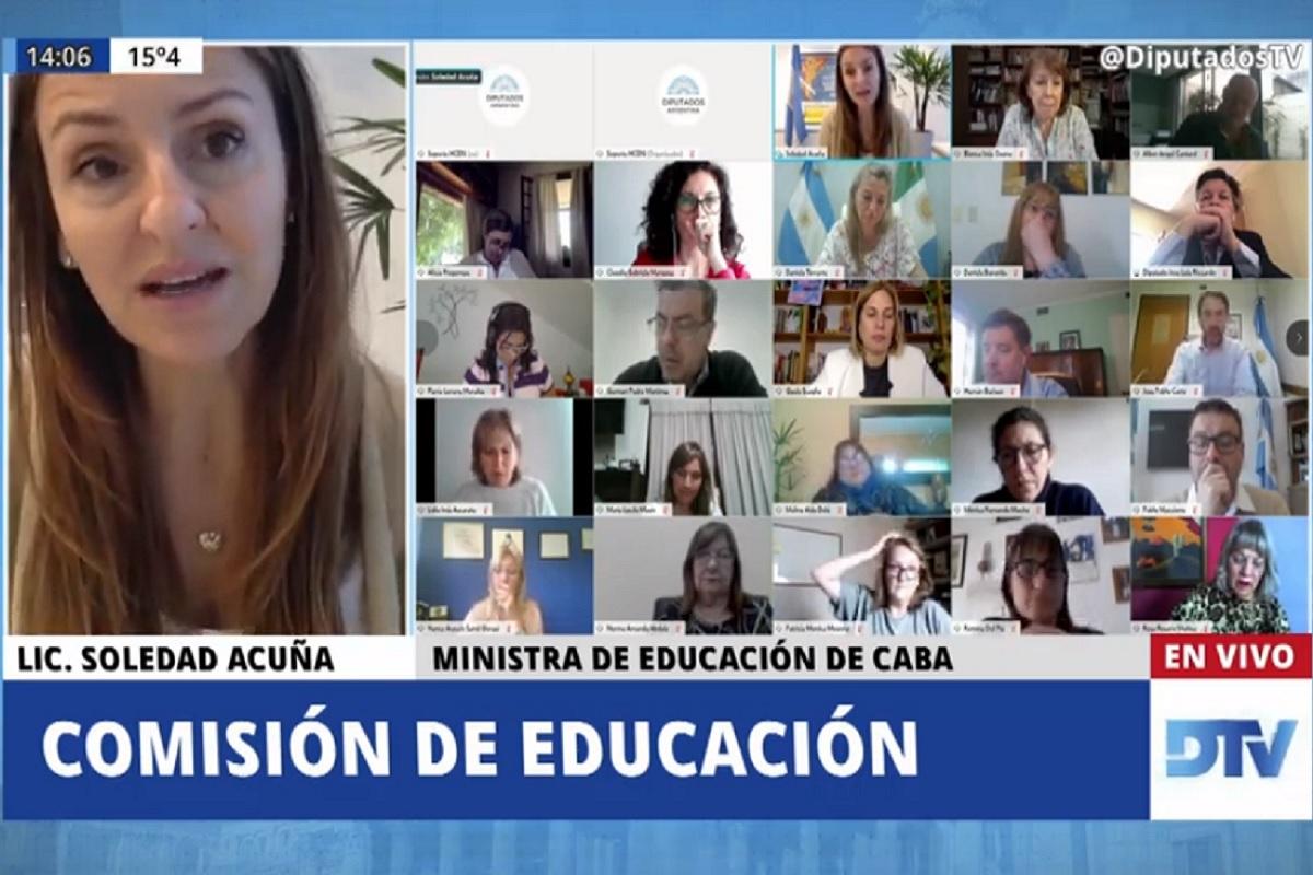 soledad acuna ministra educacion ciudad comision diputados