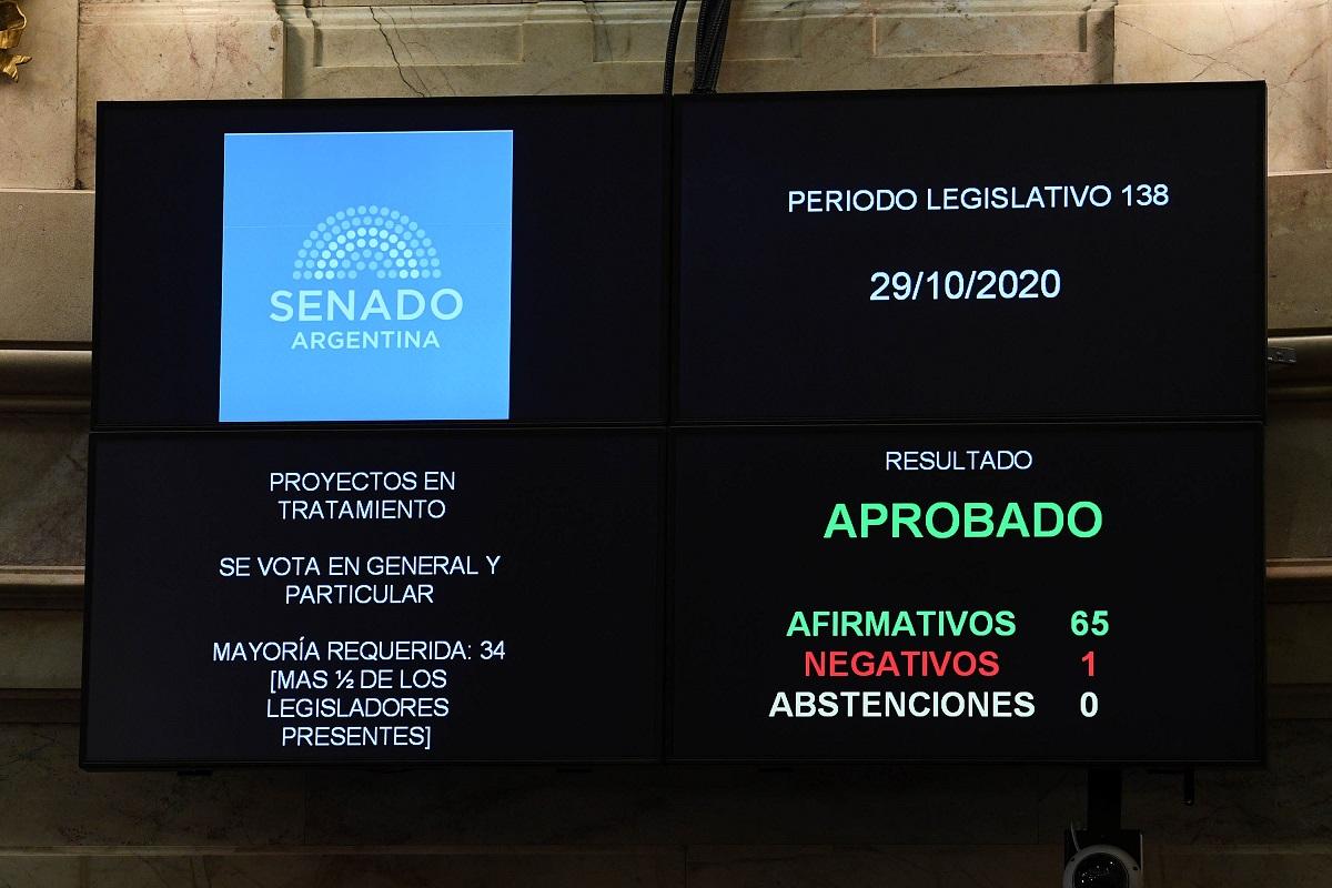 votacion pliegos sesion senado 20 octubre 2020