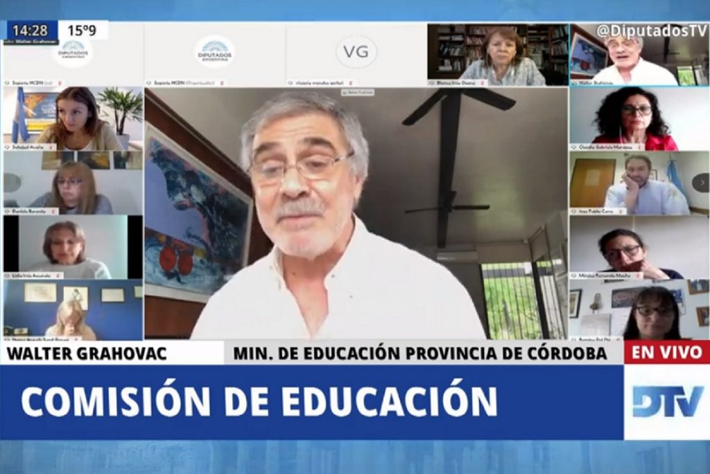 walter grahovac ministro educacion cordoba comision diputados