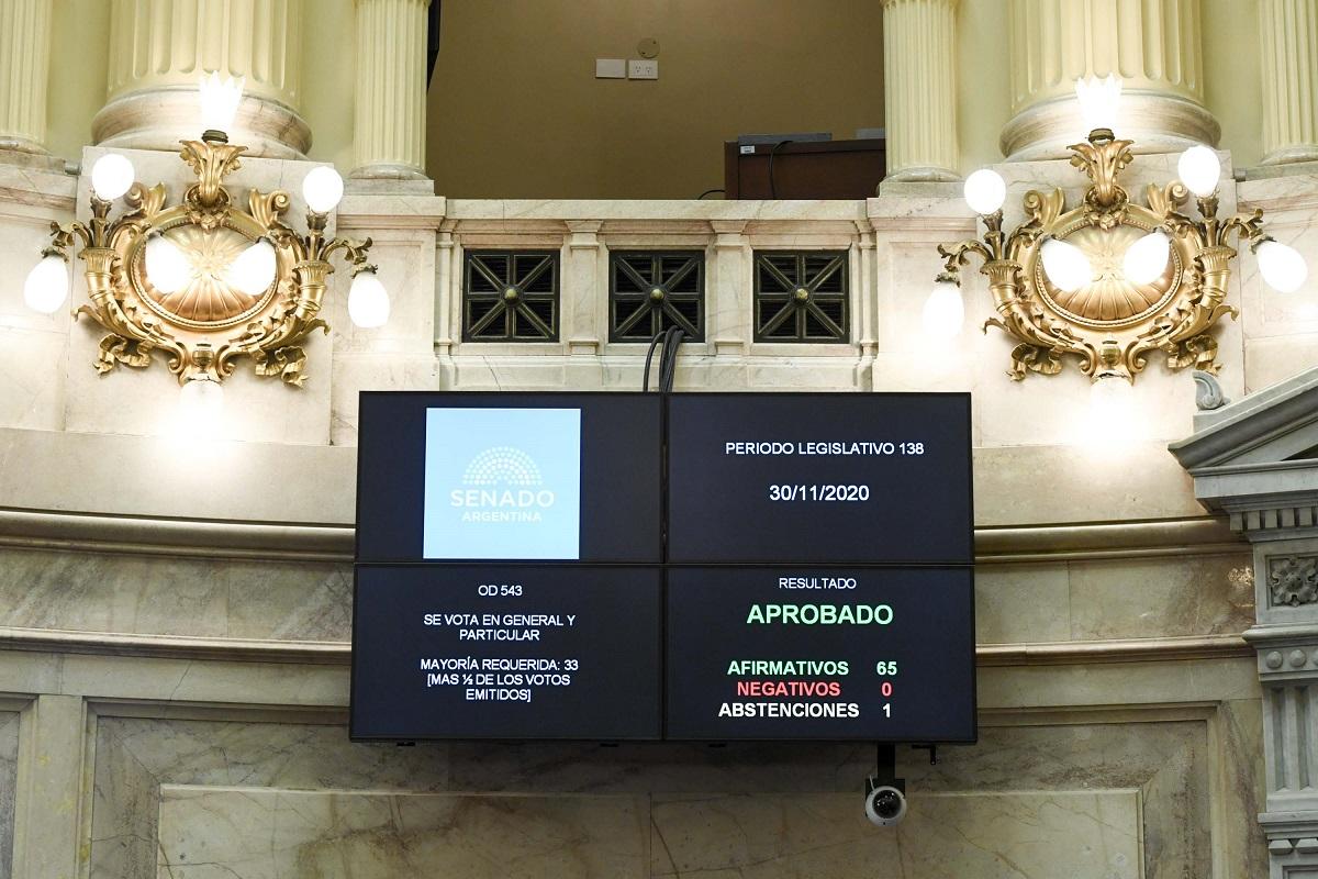 tablero senado proyecto sostenibilidad deuda publica