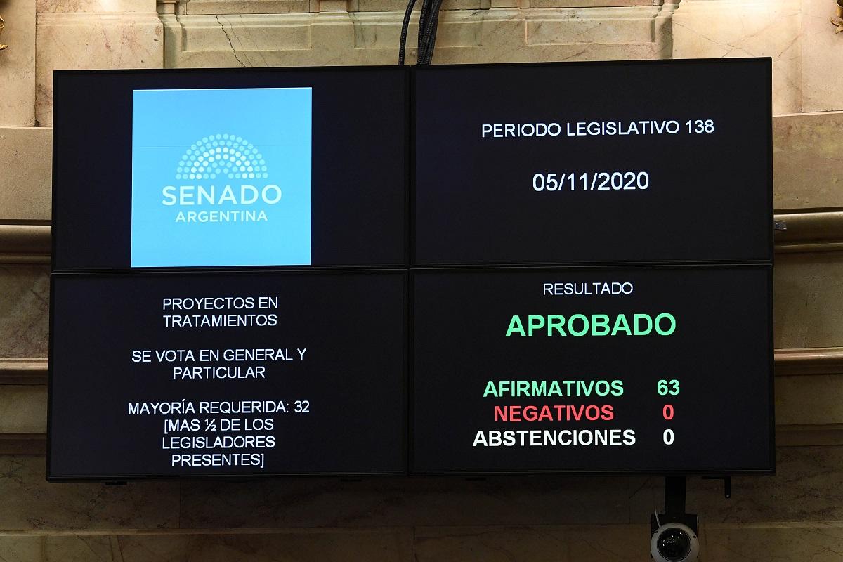 tablero votacion proyectos discapacidad senado