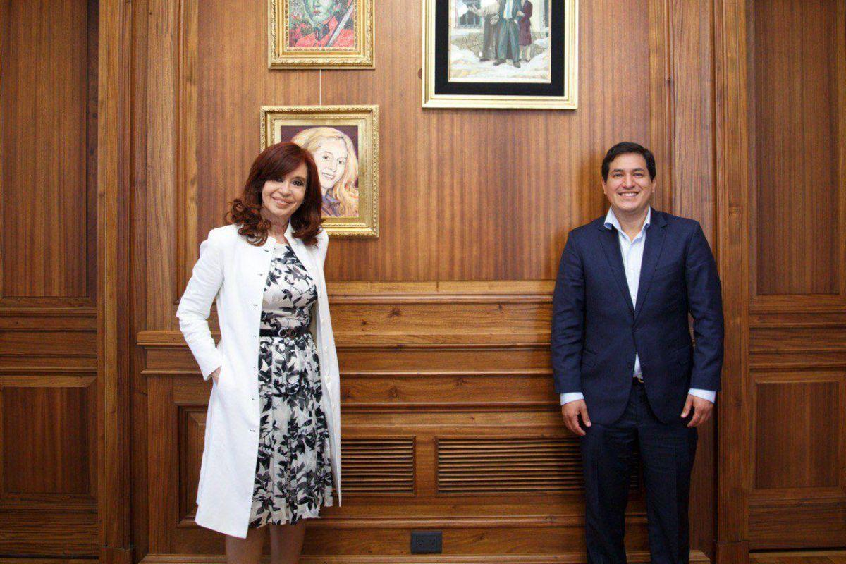 Cristina Kirchner volvió a respaldar la candidatura de Andrés Arauz en  Ecuador – Parlamentario