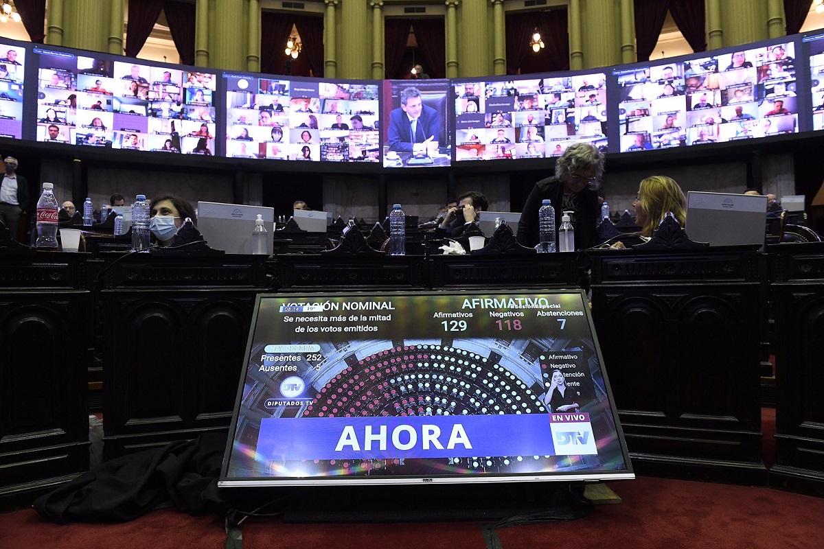 tablero votacion diputados coparticipacion ciudad