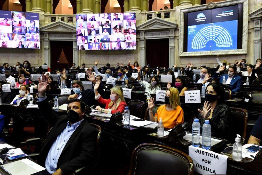 bloque frente de todos diputados sesion febrero 2021