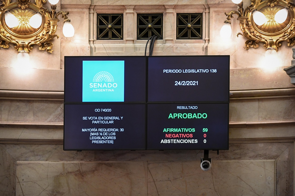 tablero votacion senado proyecto ciencia y tecnologia