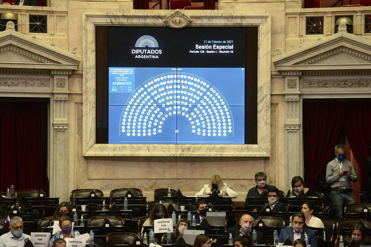 votacion tablero diputados proyecto construccion privada