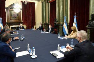 Massa, Uñac y Sagasti se reunieron para promover el desarrollo de la industria vitivinícola a nivel nacional