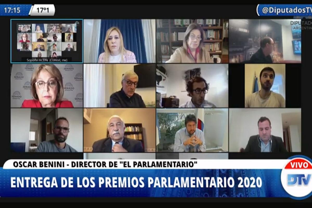 En una ceremonia virtual se entregaron los Premios Parlamentario 2020