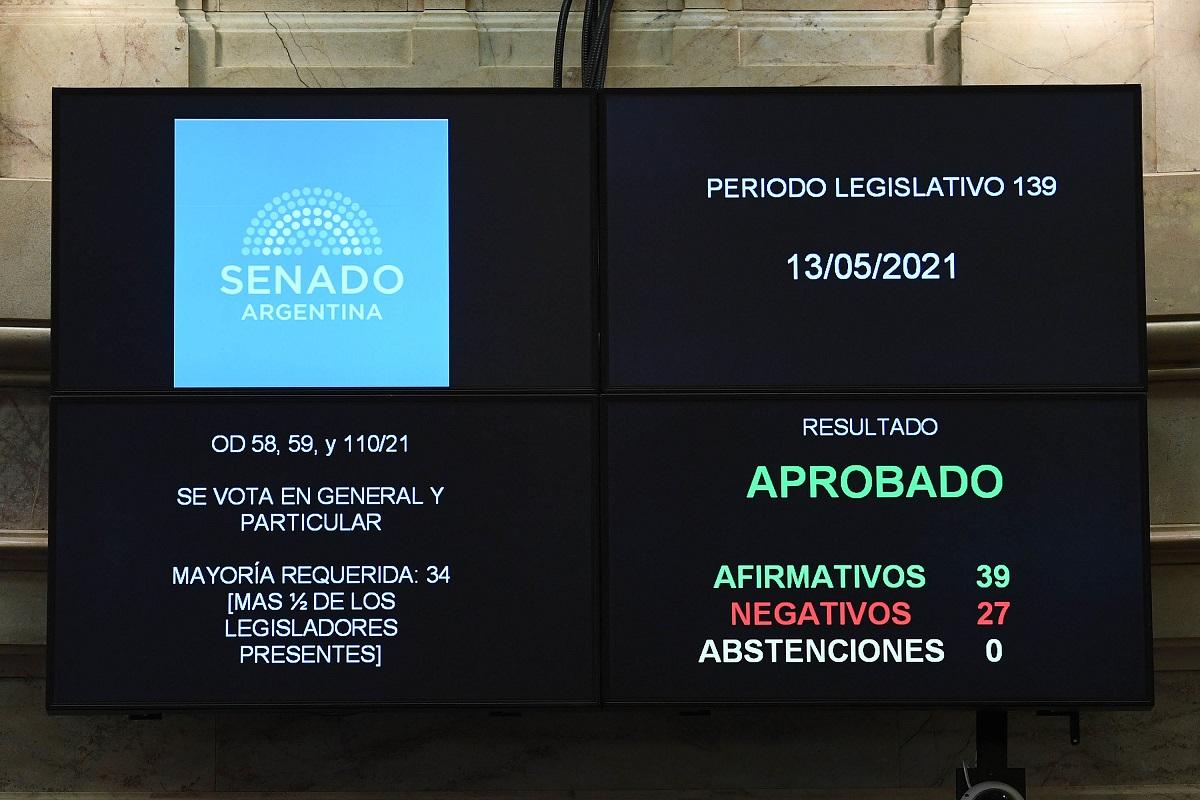 votacion dnu senado 13 mayo 2021