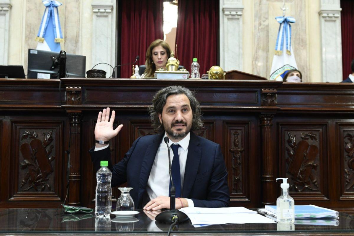 Cafiero brinda su primer informe del año en el Senado