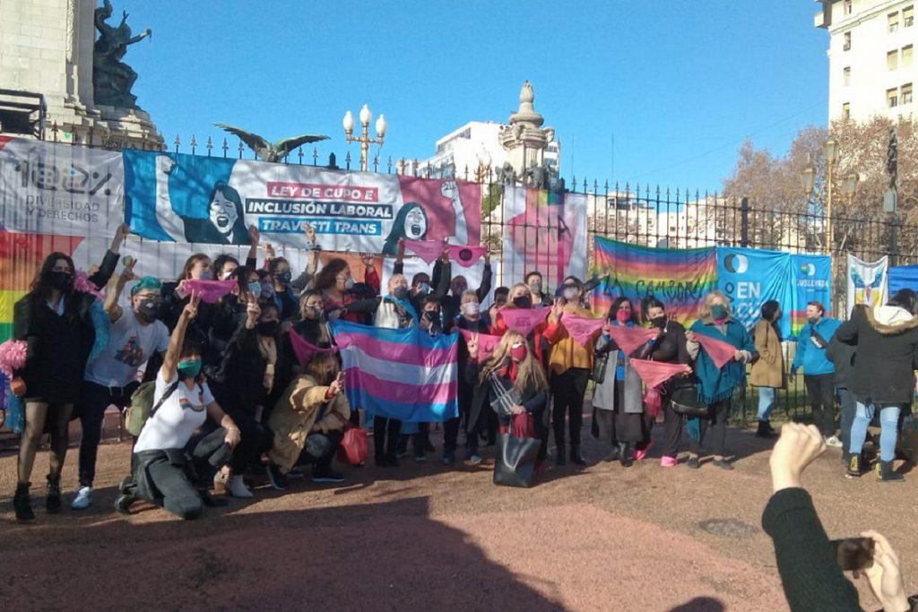 militantes trans sancion ley cupo trans