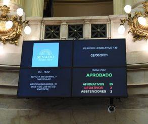 Sin debate,  el Senado postergó las elecciones por la emergencia sanitaria por el Covid-19