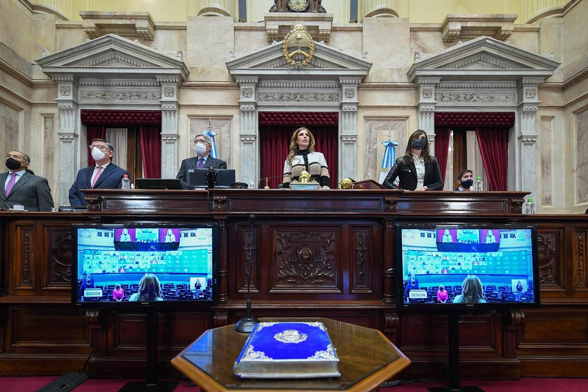 sesion senado 15 julio 2021 claudia zamora presidiendo