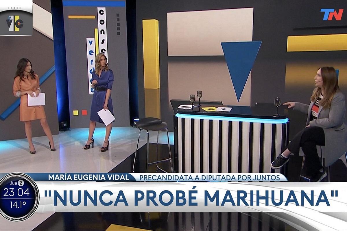 maria eugenia vidal tn entrevista marihuana