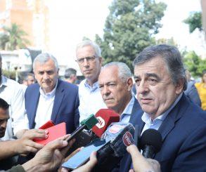 Negri y Morales fueron a brindarle su apoyo a Barletta