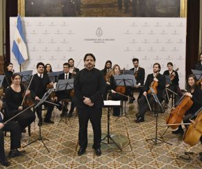 Concierto de la Orquesta de Cámara del Congreso en el Palacio Legislativo